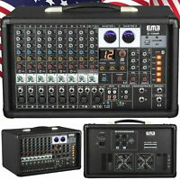 EMB 10P 600W 10 Channel Power Mixer Console w/ DSP Effects, Bluetooth, Record