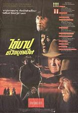 Unforgiven Clint Eastwood Western  One Sheet Poster Original Thailand version