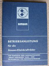 Betriebsanleitung SIMSON S51 + Schwalbe KR51/2 Bedienungsanleitung S551 + KR51/2