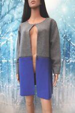 Kaleidoscope Zip Off Colour Block Coatigan Grey & Blue sz UK 10-12 RRP £69 BNWT