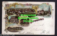 116602 AK Schwarzenbek 1905 Sparkasse Schule Kirche Litho