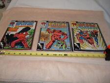 """MARVEL COMICS Lot of 3 """"SPIT FIRE"""" comic books   1986"""