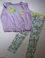 Gymboree Painting Pals Girls 5T Lion Tee Shirt Top Watercolor Pants Set NEW NWT