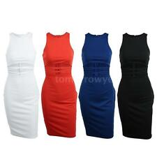 Polyester Short Sleeve Regular Size Sundresses for Women