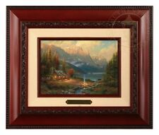 Thomas Kinkade Beginning of a Perfect Day Framed Brushwork (Brandy Frame)