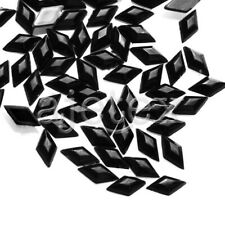 1000pcs 3mm Acrylic Flat Back Rhinestone Diamante Gems Nail diy Rhombus Black