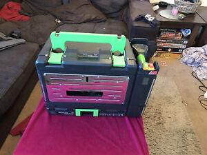 Power 8 Workshop Set Box Circular Saw, Jigsaw, Drill Torch, Battery