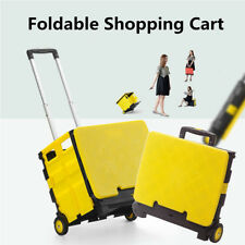 Foldable Shopping Cart Trolley Portable Pack & Roll Folding Grocery Basket