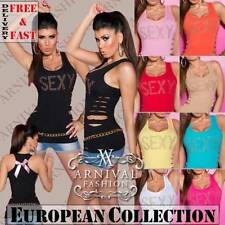 Regular Size Sleeveless Tops & Blouses for Women
