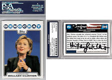 Hillary Clinton PSA DNA COA 2008 Topps CARD RARE SIGNED AUTOGRAPHED PROOF #C08-H