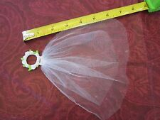 Fisher Price Loving Family Bridal Headpiece Veil Flower Crown Wedding White