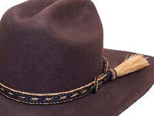 STC 3 Strand handmade adjustable Horse hair Hat Band Brown FREE POSTAGE