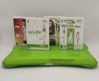 Nintendo Wii Fit & Fit Plus with Balance Board Wii Bundle Lot4Games Clean/Tested
