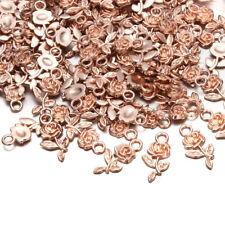 Wholesale 16pcs Tibet silver Rose Flower Charm Pendant beads Jewelry Making NEW