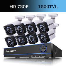 8CH HD 720P AHD DVR 1500TVL IR-CUT HDMI Outdoor CCTV Home Security Camera System