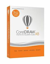 Corel CorelDRAW Home & Student Suite X8 PC Disc Free Shipping