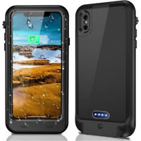 Waterproof Rechargeable Charger Battery Case Cover Protector For iPhone X XR 8 7