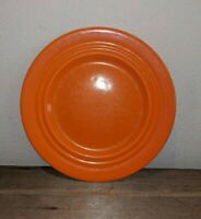 """Vintage Early """"California Pottery"""" USA Pacific Orange 10.25"""" Dinner Plate"""
