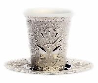 Silver Color Kiddush Cup Judaica Shabbat Jewish Gifts Holidays Israel Holy