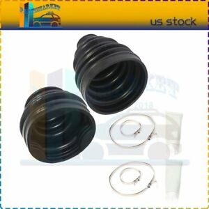 Pair CV Axle Outer Inner Boot Kits Front Left Right For 2004 Toyota Tacoma DLX