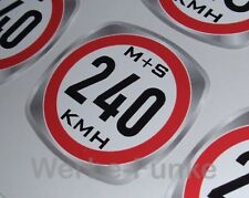 Geschwindigkeitsaufkleber 240 kmh für M+S Winterreifen, Reifen 30mm ,Aufkleber