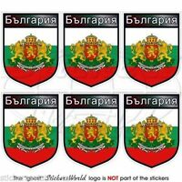 """BULGARIA Bulgarian Shield Mobile Cell Phone Mini Decals, Stickers 1,6"""" (40mm) x6"""