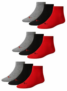 Puma Socks Quarter Sneakers Trainers Unisex 9er Pack Sizes 35-46 Color Selection