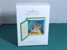 2012 Hallmark A Child Is Born w/Price Tag QXG4514