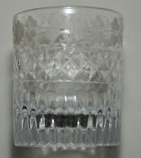 Verrerie - Gobelet cristal gravé d'une frise de fleur et une devise don du coeur