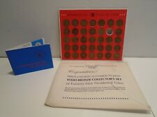 Shell Presidential Hall of Fame Coins Bronze Vintage 1968 Franklin Mint