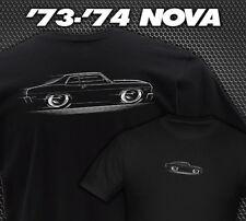 T-shirt Chevy Nova 1973 1974 Chevrolet SS V8 73 74
