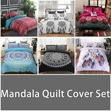 Oriental Mandala Floral Doona Duvet Quilt Cover Set Bed Dreamcatcher Pillowcase