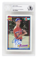 Chipper Jones Signed Atlanta Braves 1991 Topps Rookie Card #333 - Beckett