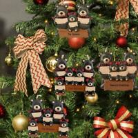 Black Bear DIY Christmas Party Family Holiday Decoration Family Hanging T0A1