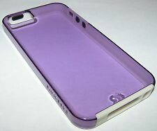 Case Mate naked tough translucent violet case for iPhone 5/5s/SE, Metal Buttons