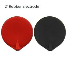 2'' Carbon Round Electrodes Black and Red Pair - Great Conductivity!!!