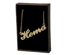 "Name Necklace ""HEMA"" - 18ct Gold Plated - Made With Swarovski Elements - Fashion"