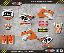 Custom graphics for KTM 50 SX 2002 - 2008 SHOCKWAVE style full sticker kit