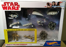 Disney Hot Wheels Star Wars The Last Jedi Hero & Villain Starships 11 Pack NIB