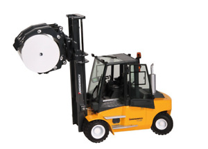 NZG 1:25 SCALE JUNGHEINRICH TFG680 LPG FORK LIFT TRUCK WITH ROLL CLAMP 9131