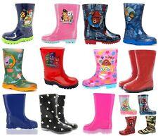 Childrens Kids Themed Wellies Daisy Wellingtons Navy Red Snow Rain Wellies UK4-3