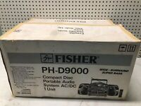 NEW VINTAGE Fisher PH-D9000 Boombox Dual Cassette/CD Player Stereo NIB RARE