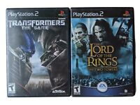 Lot of 2 PS2 Games,  Playstation 2, Lord of the Rings, Transformers the Game
