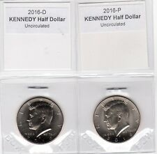2016 Kennedy Half Dollar, 2-coin set (P and D) Uncirculated