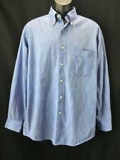 TALBOTS Men's Medium Dress Shirt Blue Multicolor Stripes Collared Business M