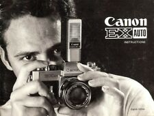 1970s CANON EX AUTO 35mm SLR CAMERA OWNERS INSTRUCTION MANUAL -canon ex 35mm slr