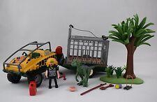 Playmobil Véhicule amphibie avec Deinonychus set 4175