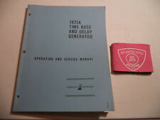 Hewlett Packard 1821A Time Base And Delay Generator Operating & Service Manual