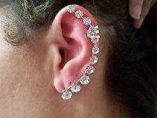 ALL Rhinestone Ear Cuff!.....Silver  Tone Backing...........So Pretty!