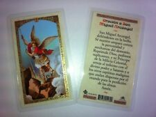 HOLY PRAYER CARDS FOR SAINT MICHAEL THE ARCHANGEL SET OF 2 IN SPANISH FREE SHIP